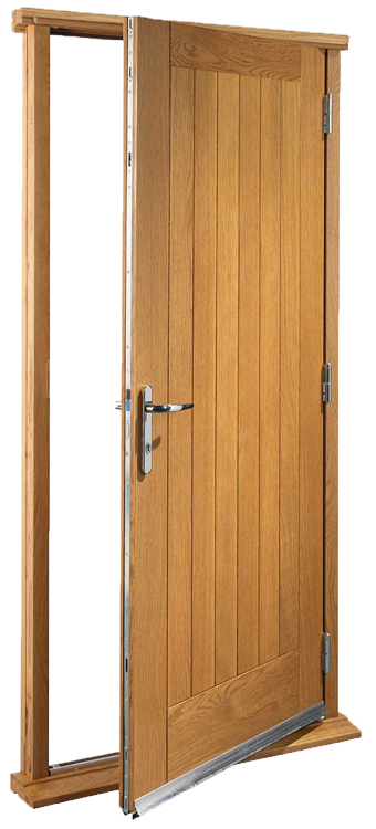 Pre finished oak pre hung door set for Door of distinction