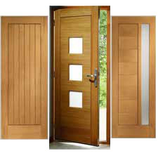 External Contemporary Oak Doors
