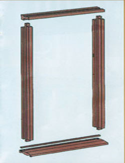 External hardwood door frame for Door frame kit