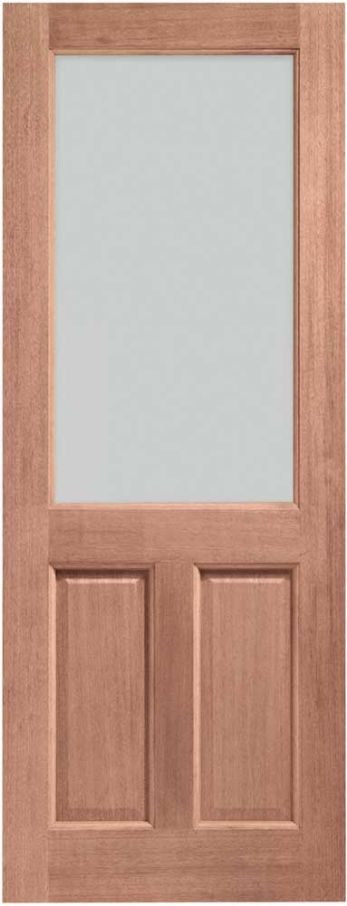 2xg carroll glass hardwood external door for Hardwood outside doors