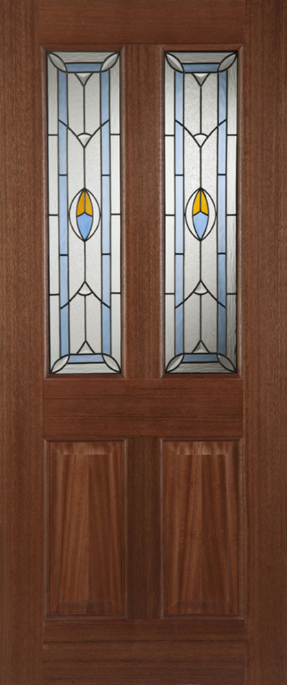 Edwardian Blue External Hardwood Door
