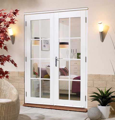 White french doors exterior images for White exterior double doors