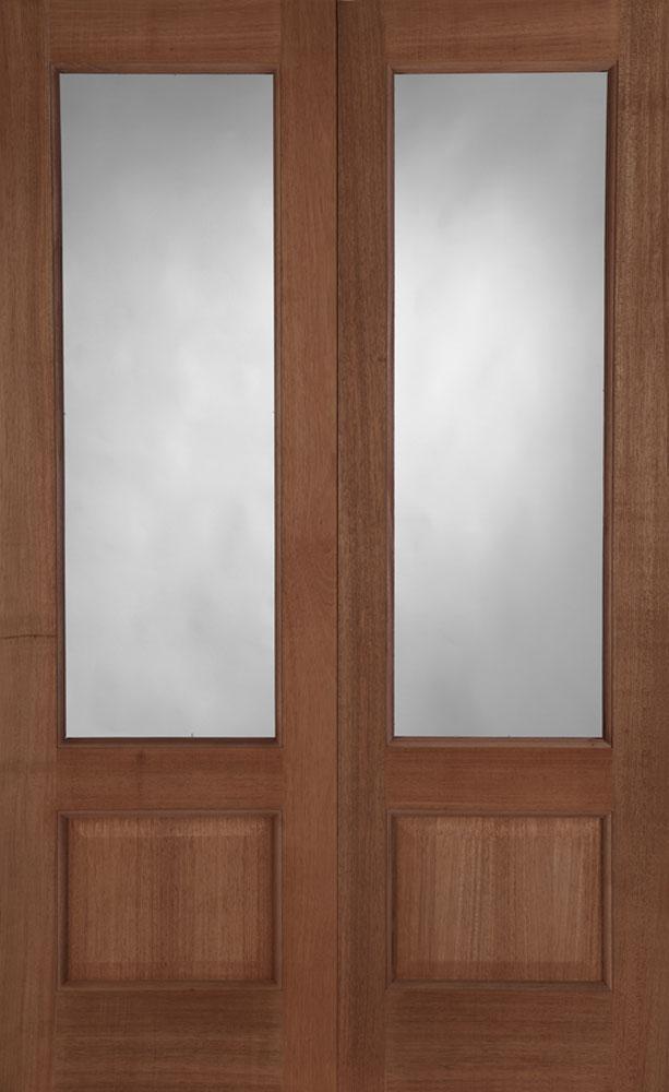 Chiswick hardwood door pair for Hardwood outside doors