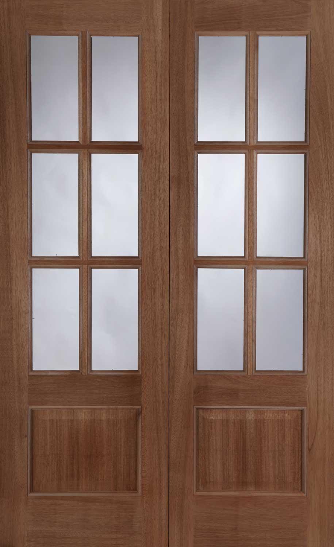 Hampstead hardwood door pair for Hardwood outside doors