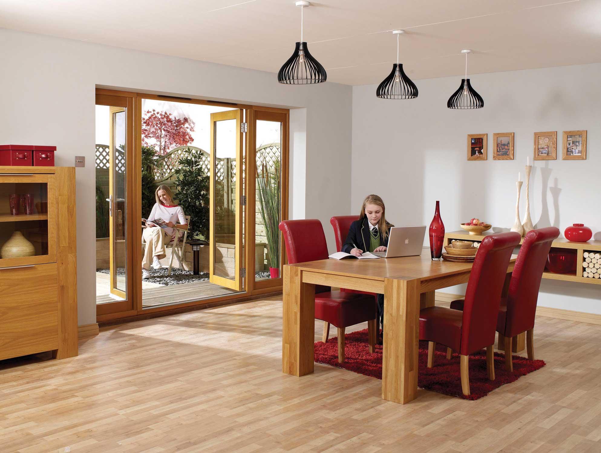 Configuration of 1 Pair of Pattern 20 Doors \u0026 2 Sidelights - Pre-finshed Oak ... & Exterior Oak Door