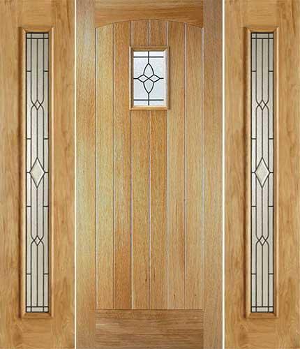 Chancery Cottge Glazed External Oak Door With Univrsal Sielights