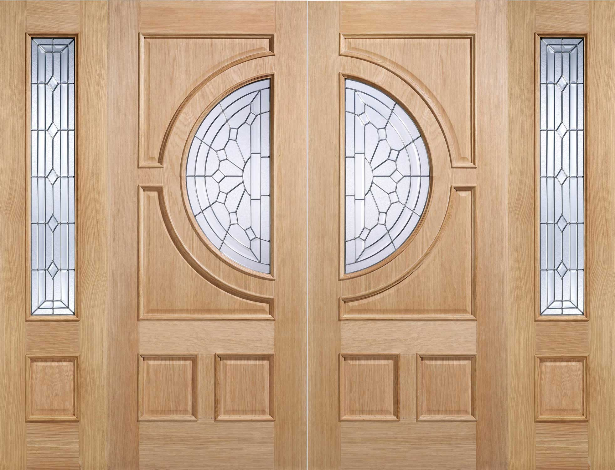 Pair of \u0027Empress\u0027 Doors shown with Sidelights  sc 1 th 196 & Traditional Exterior Oak Doors | Exterior Glazed Oak Doors | Oak ...
