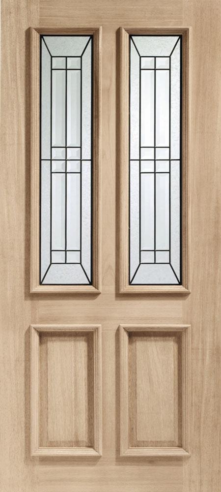 malton diamond glazed oak external door