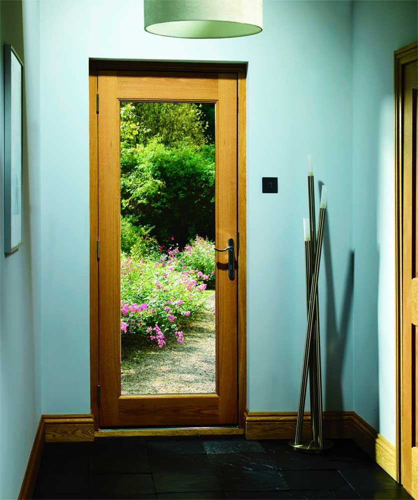 Pattern 10 glass oak external door for Exterior back doors with glass