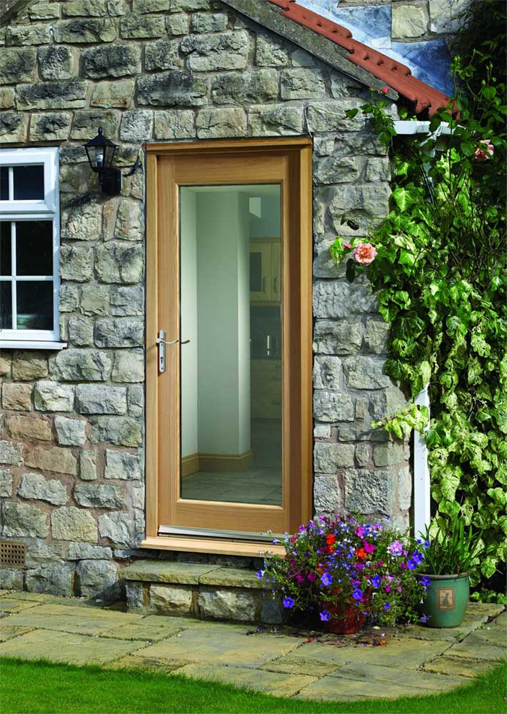 Pattern 10 glass oak external door for Oak front doors