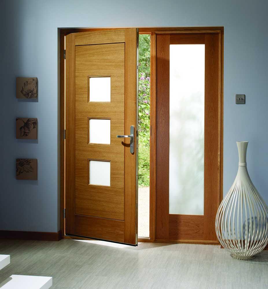 Oak doors external doors oak for Large front door