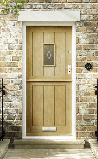 Croft Glazed Thermal External Oak Stable Door