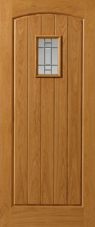 Chancery mosel glazed thermal external oak door for Large external doors