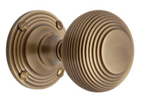 Reeded Mortice Knob