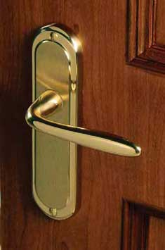 Handles on Plates - Polished Brass Polished Chrome Satin Chrome Split Finishes u0026 Antiqued brass etc. & Door Handles | Door Locks u0026 Latches | Doors of Distinction