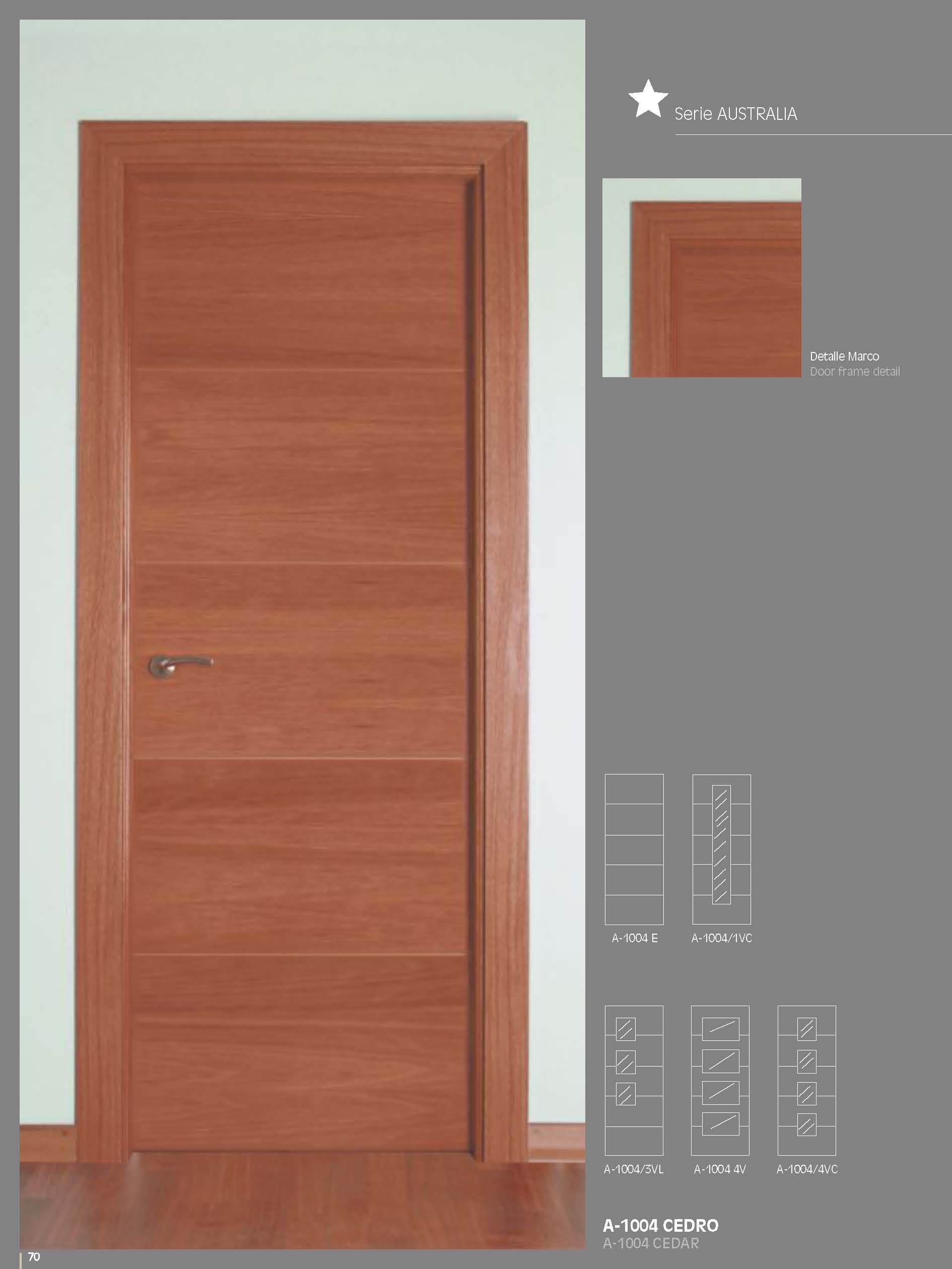 Artema A1004 Cedar Glass Inside Door Bespoke Sizes