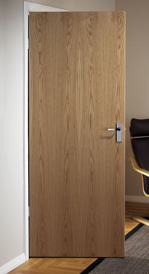 Oak Veneer Match Flush Doors