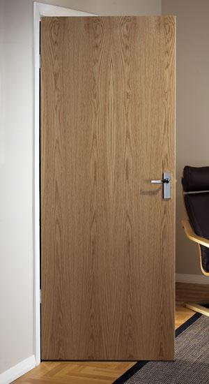 Oak veneer match flush doors for Interior flush wood doors