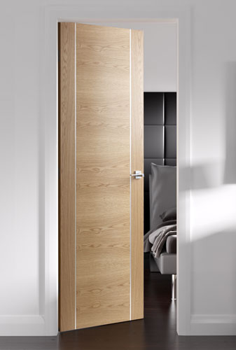 Forli Oak Inlaid Pvc Internal Door