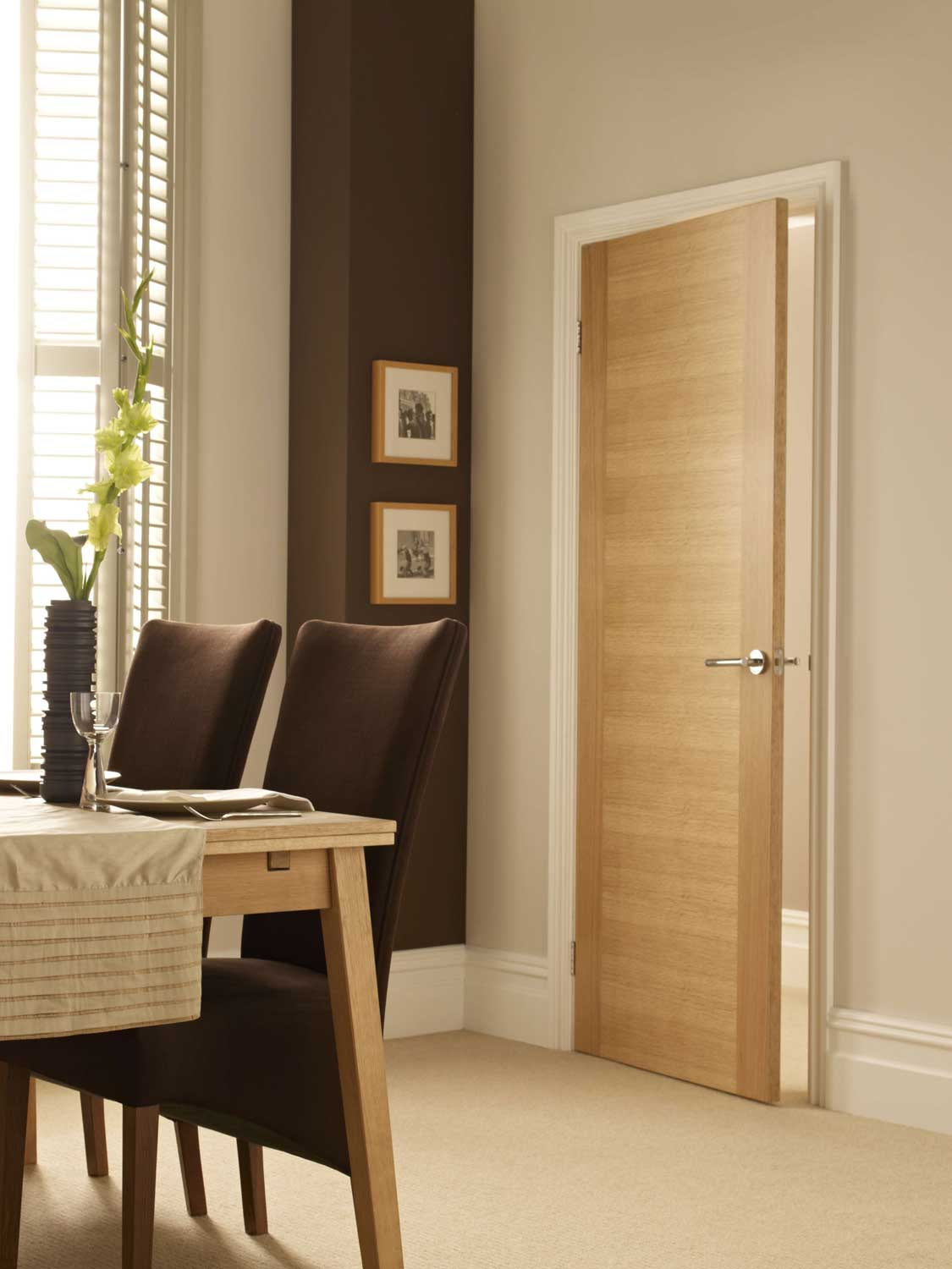 2 sileed oak veneer match flush doors for Flush solid core wood interior doors