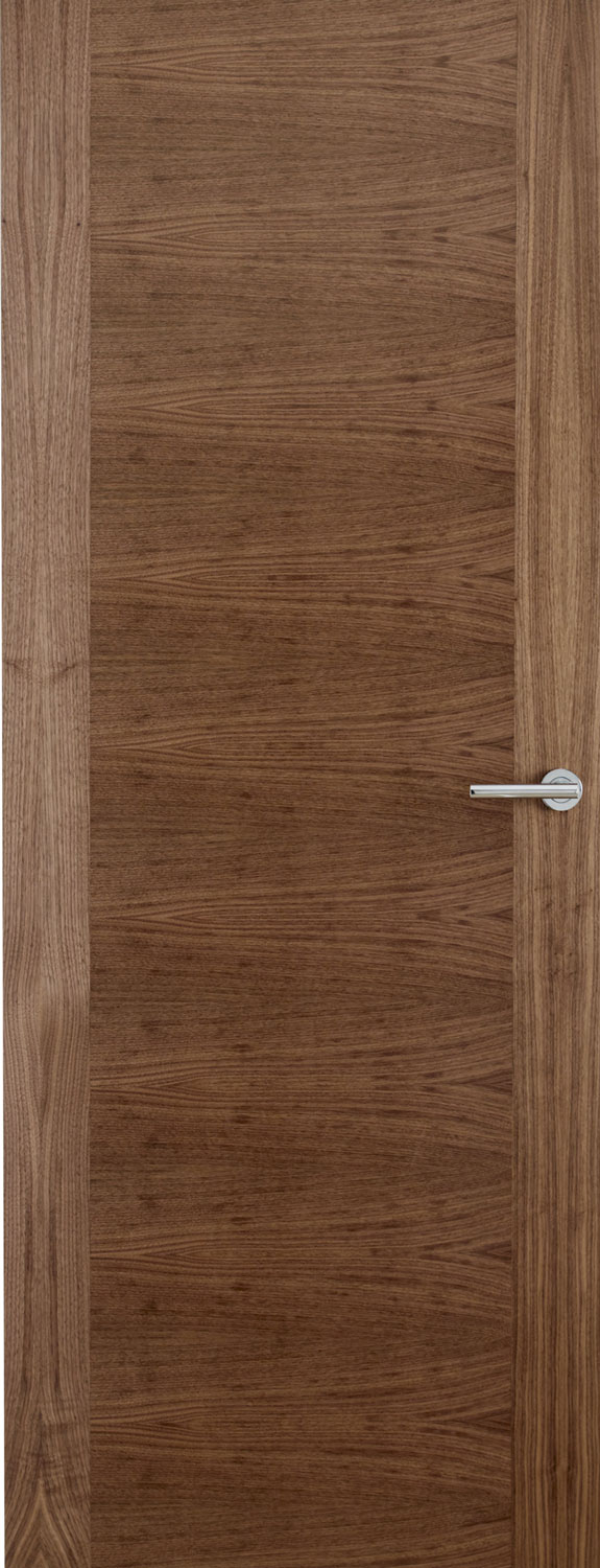 Walnut horizontal veneer flush door for Solid core flush door price