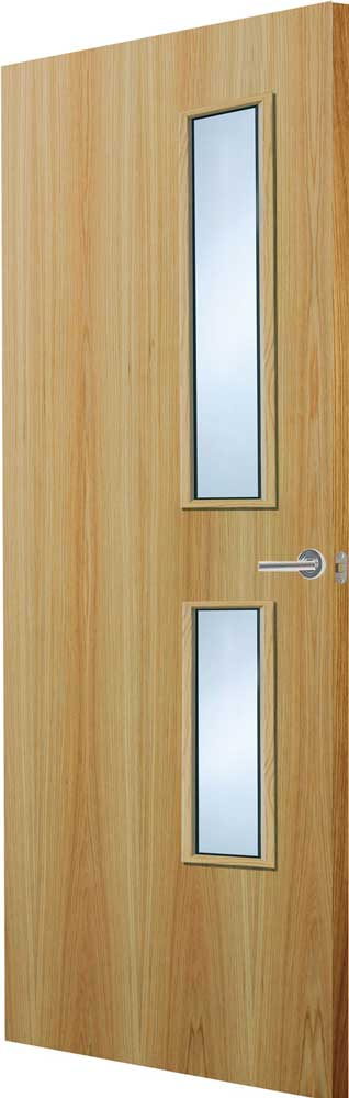 Walnut veneer match flush doors for Designer interior doors uk
