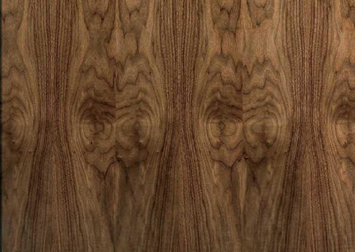 maple veneer & Walnut Veneer Match Flush Doors