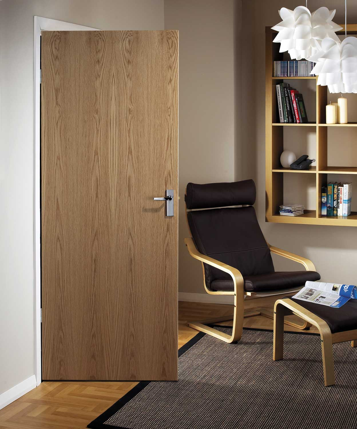 Solid Wood Internal Doors >> Ash Veneer Match Flush Doors