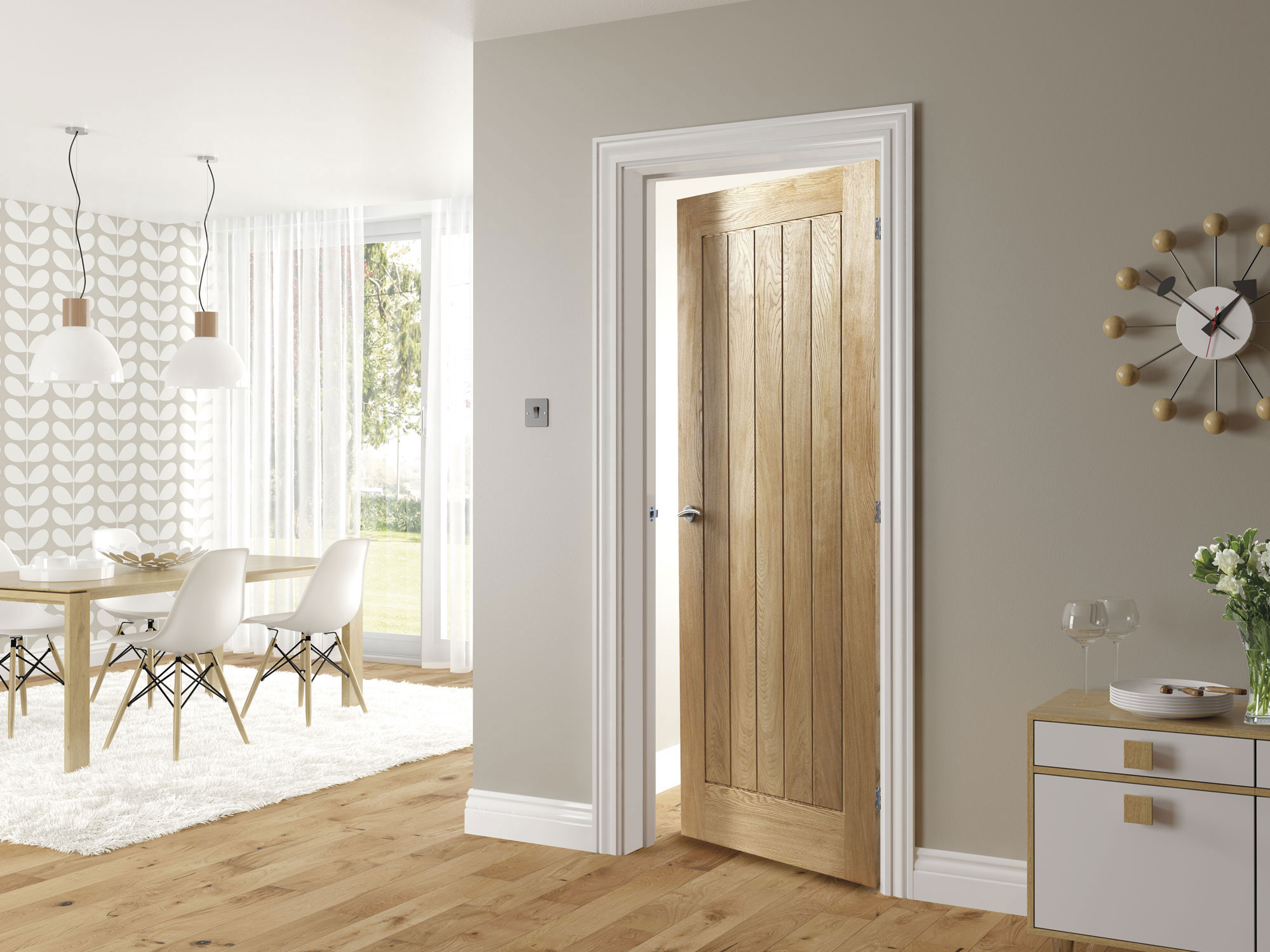 Oak 4 Panel Internal Door