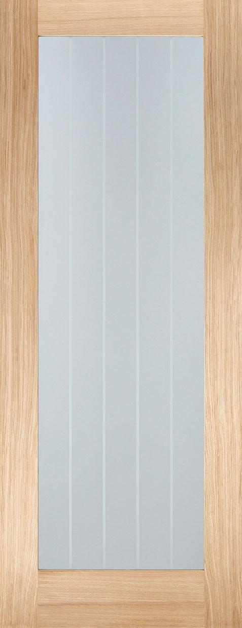 & Oak Dordogne Grooved Oak Internal Door