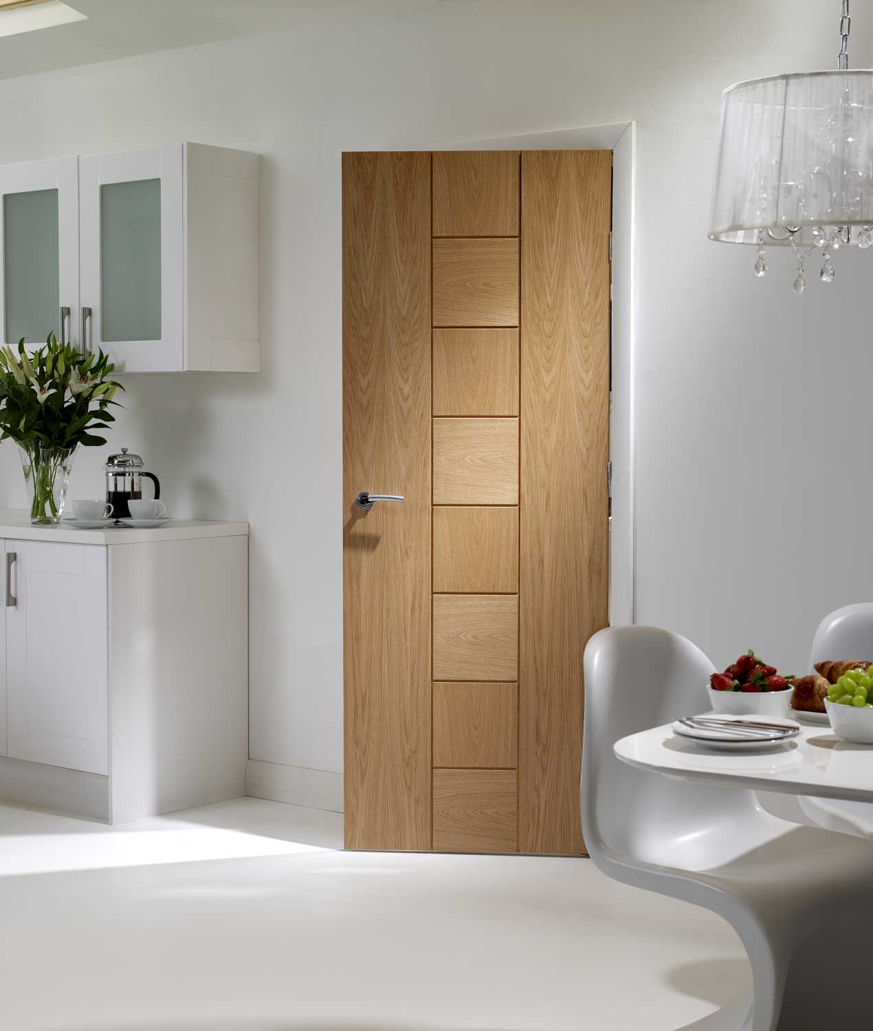 Messina oak internal door for Internal wooden doors