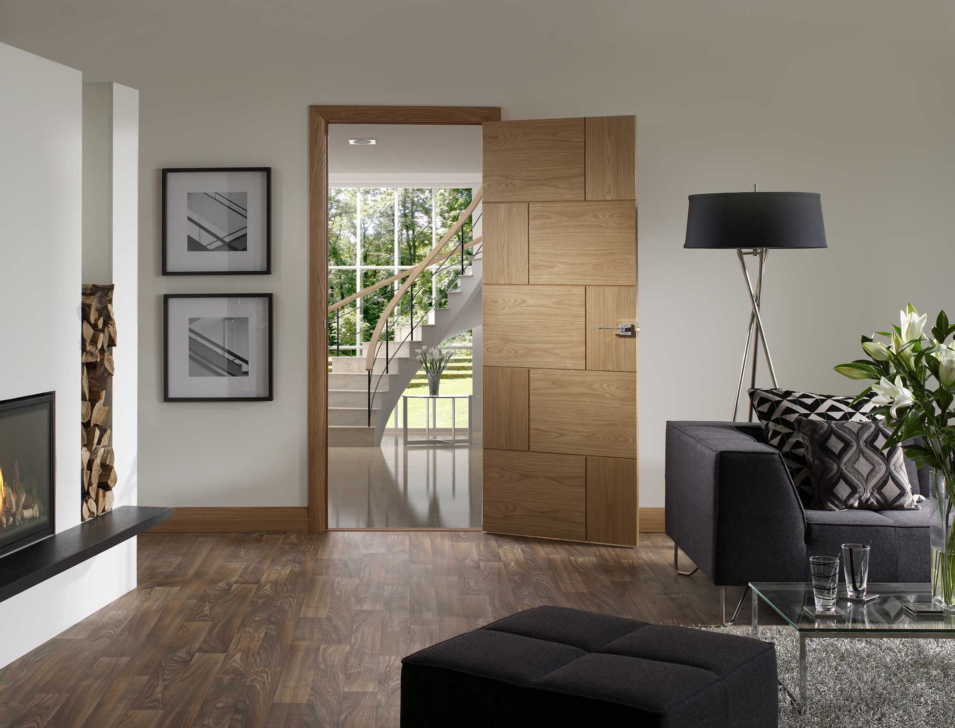 Ravenna oak internal door for Designer interior doors uk