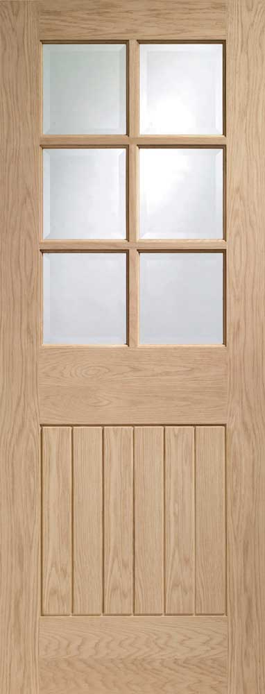 Oak Mexicana Half Glass Doors