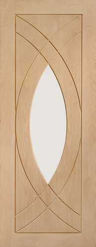 Rvenna Glass oak door