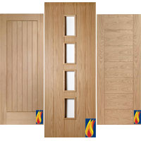 grooved oak internal doors - Interior Doors