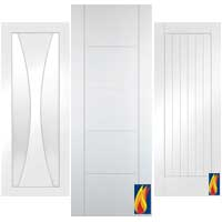 Grooved Interior White Doors