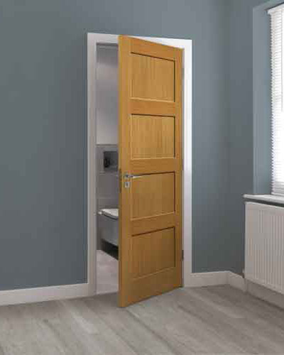 contemporary 4 panel door