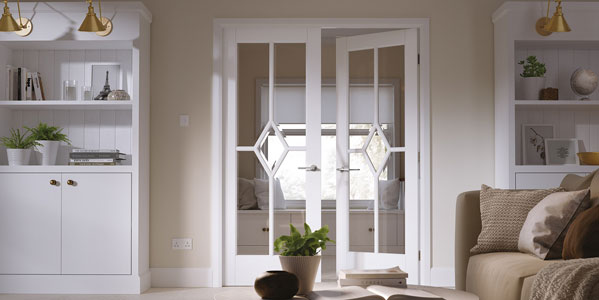 Manhatten Glazed WHITE INTERIOR DOORS