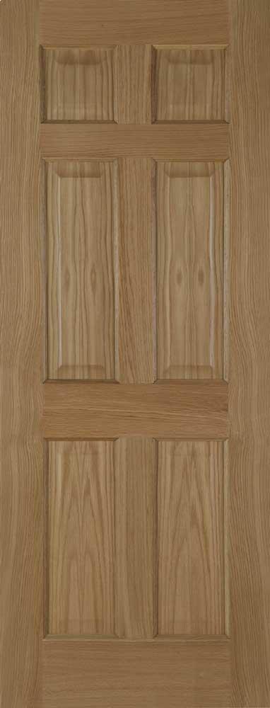 Colonial 6 Panel Oxford Oak Internal Doors