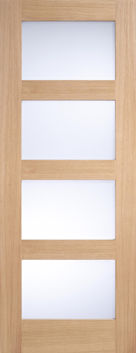 Oak 4 Light Glass Internal Door