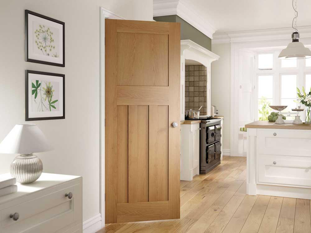 Cambridge Oak 1930 Style Internal Door