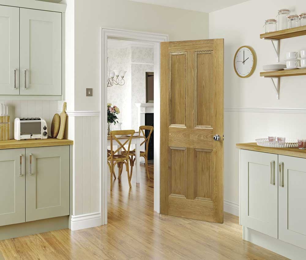 Click on door images for detail & Oak Kingston 4 flat Panel Internal Door pezcame.com