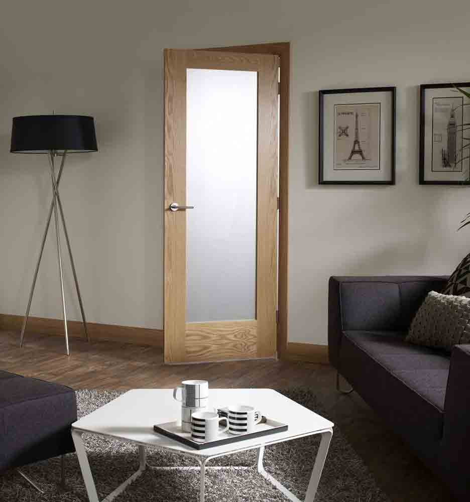 Oak Pattern 10 Glass Internal Door