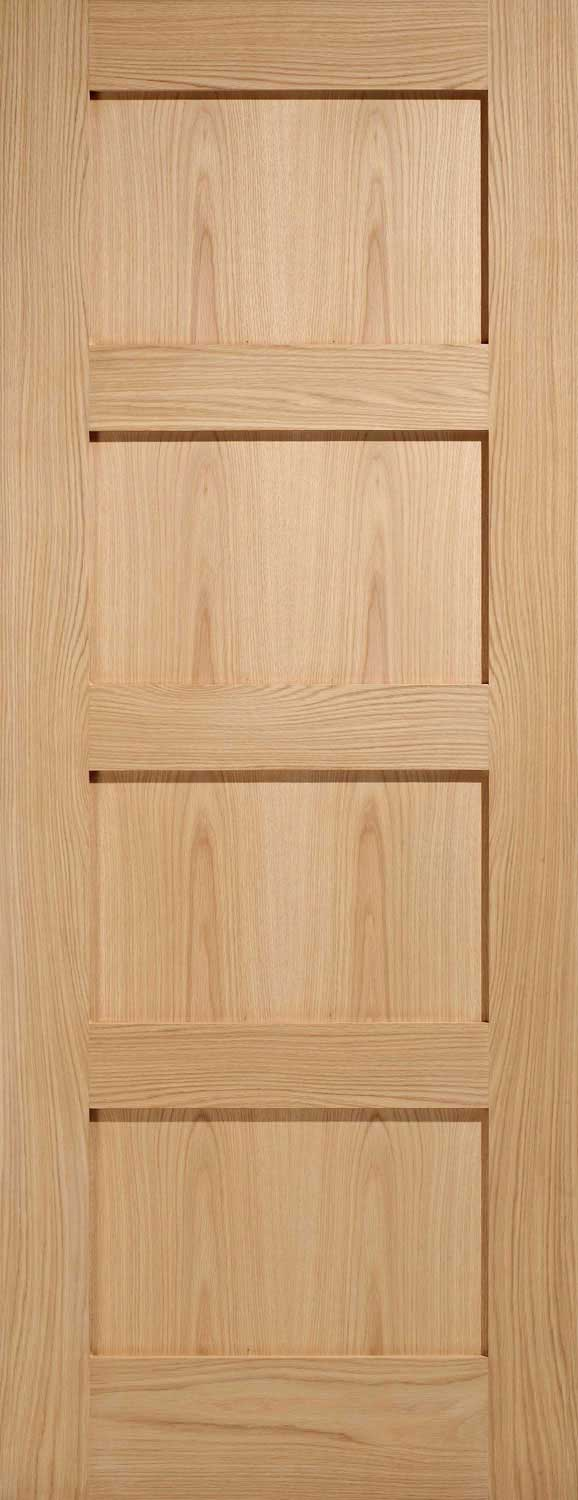 Shaker 4 Panel Oak Internal Door