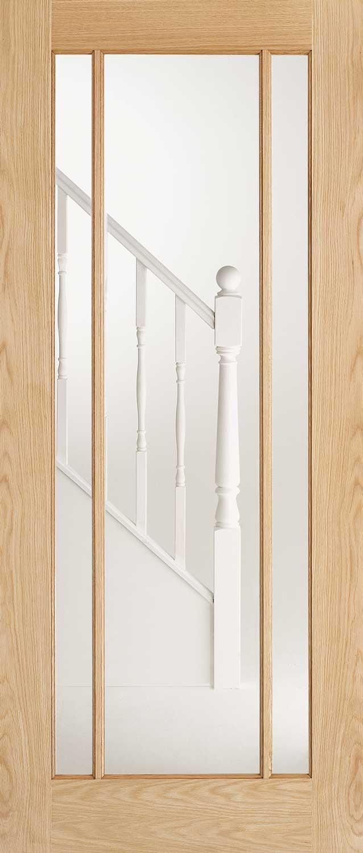 Lincoln Glazed Oak Internal Door