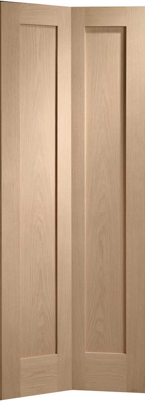 Oak Bifold Closet Doors : Pattern glazed oak internal folding doors