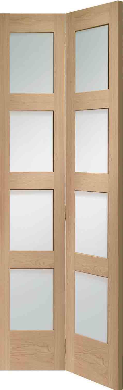 Bifold Doors Interior Glass Panes : Panel bofolding oak internal doors
