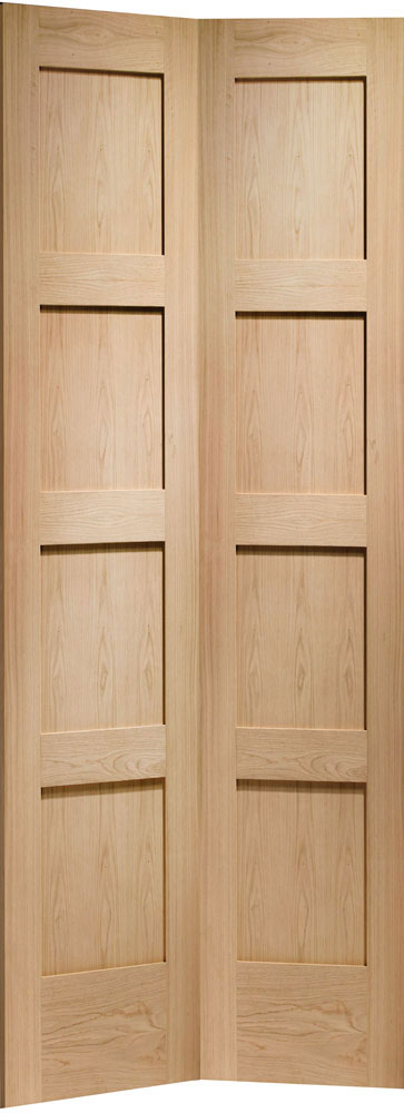 4 Panel Bofolding Oak Internal Doors