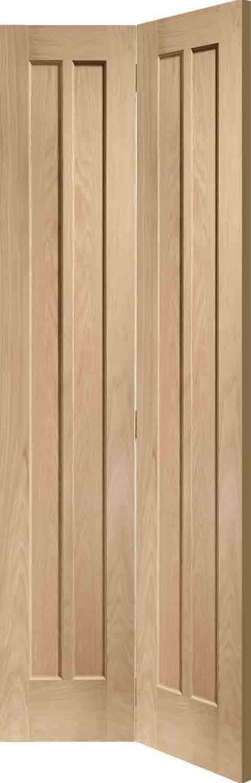 Oak bifold interior doors canterbury 4 panel oak veneer for 10 panel bifold door