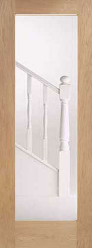 Oak pattern 10 glass internal door for 10 panel glass door